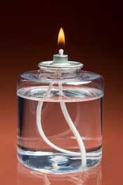 Oil Burning Glass Candles, Oil Lamps